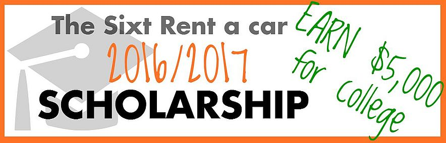 $5000 College Scholarship from Sixt rent a car