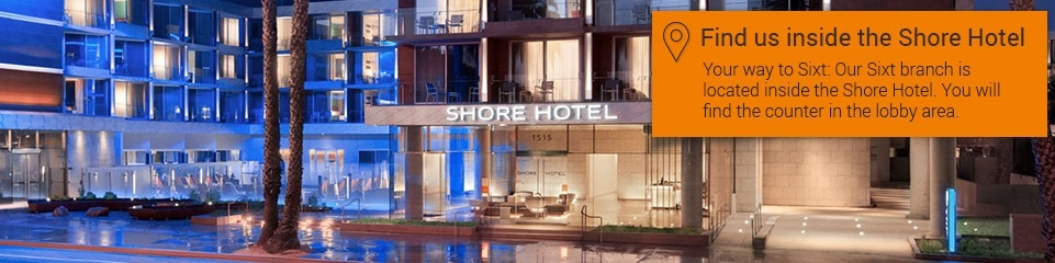 Car rental Santa Monica/Shore Hotel