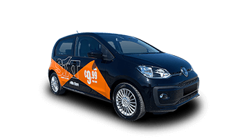 VW Up (with Publicity stickers)