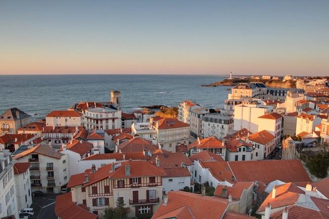 vue sur Biarritz