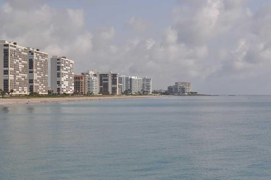 Boca Raton waterfront city view