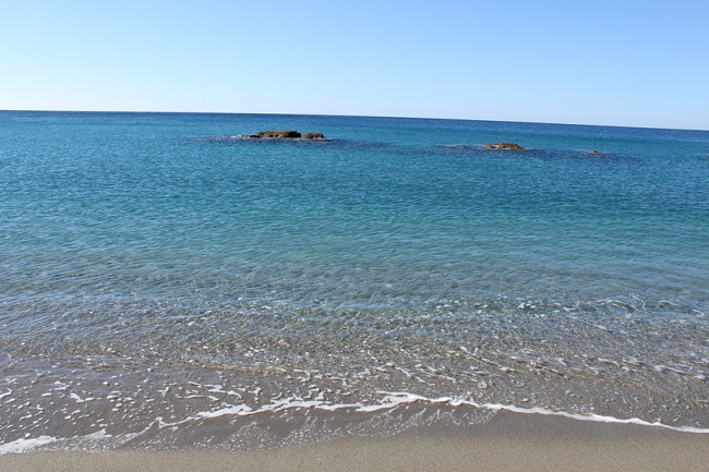 plage de Paola près de Cosenza