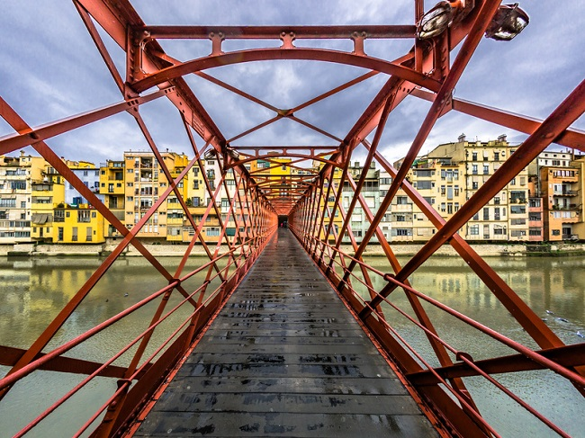 Girona bridge view
