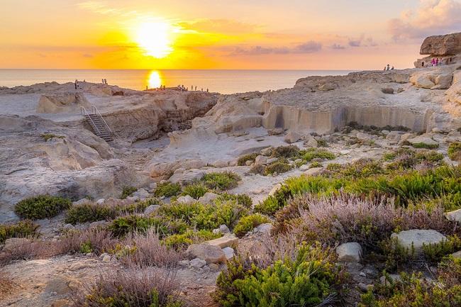 Coucher de soleil, Gozo