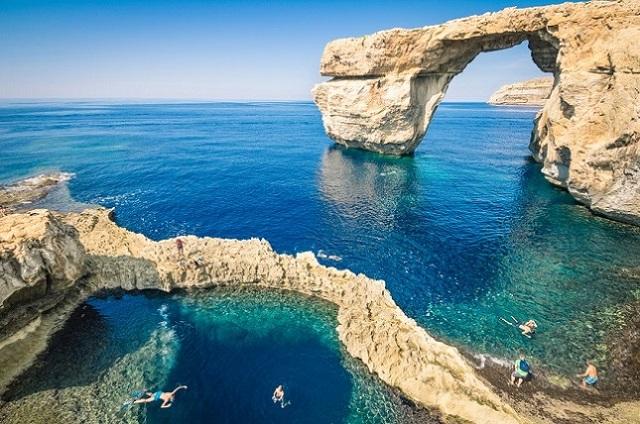 Fenêtre d'Azur à Gozo