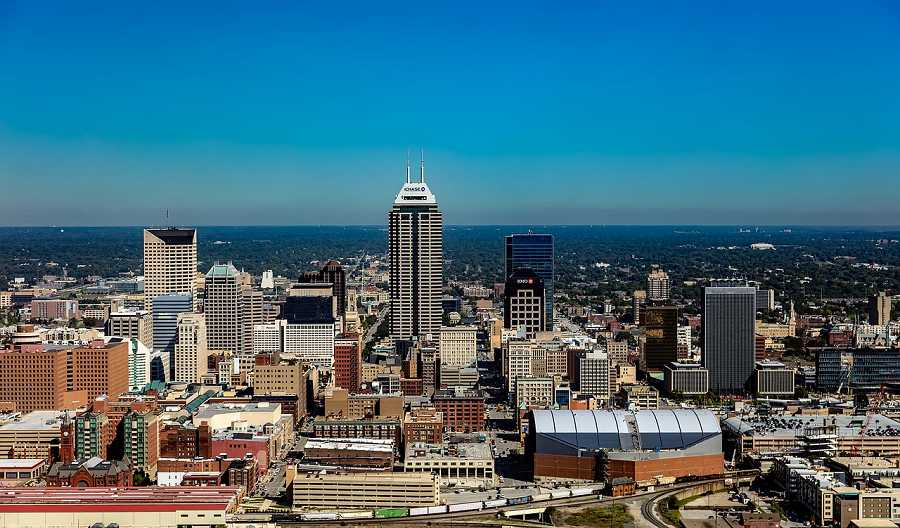 Cityscape view of Indianapolis