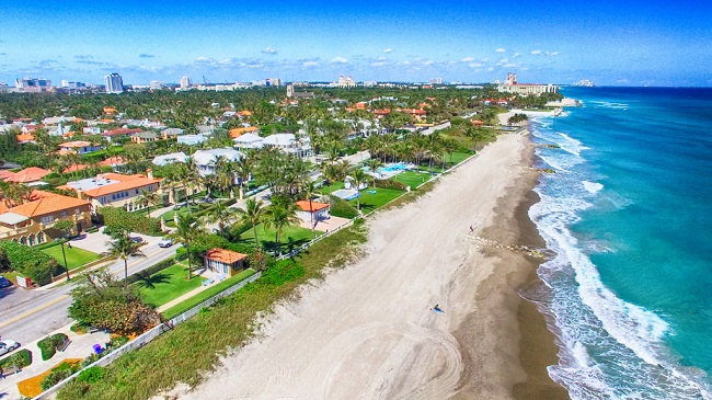 Arial View Of Palm Beach Florida
