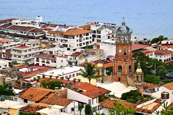 Arial view of Puerto Vallarta