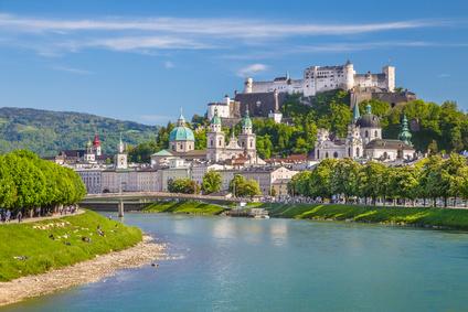 Historisches Salzburg im Sommer