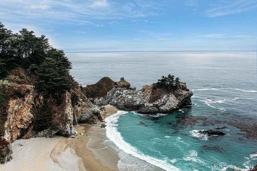 Northern California dramatic coast view