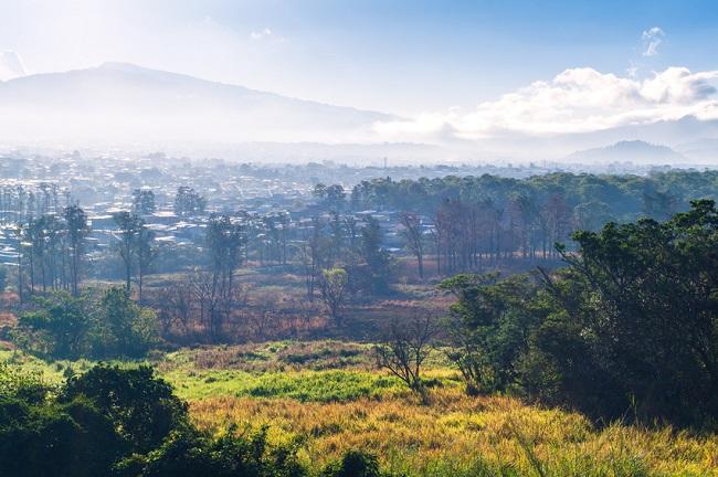 Vue sur San José, Costa Rica
