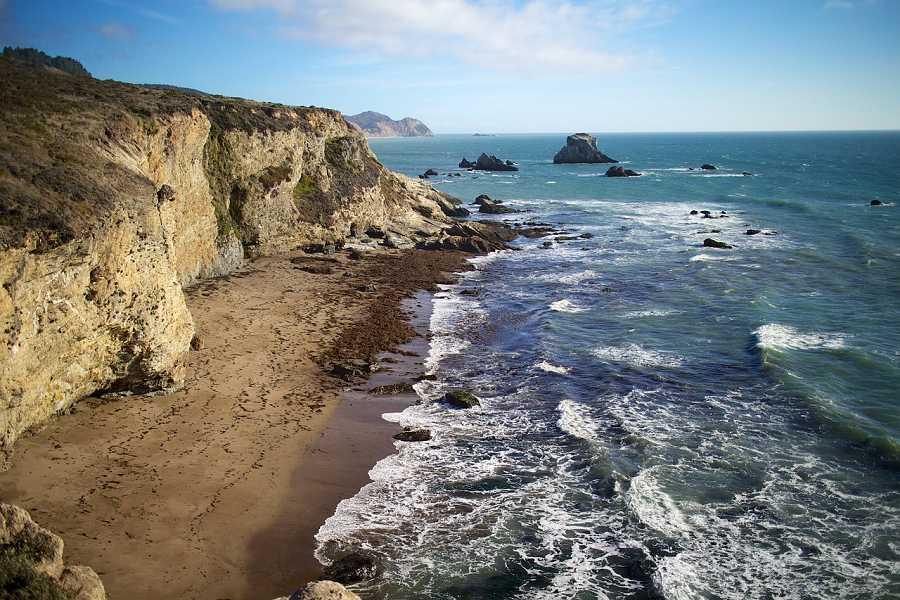 Coastal view of Bodega Bay near Santa Rosa, California.