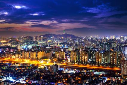 Vue sur le centre-ville de Séoul