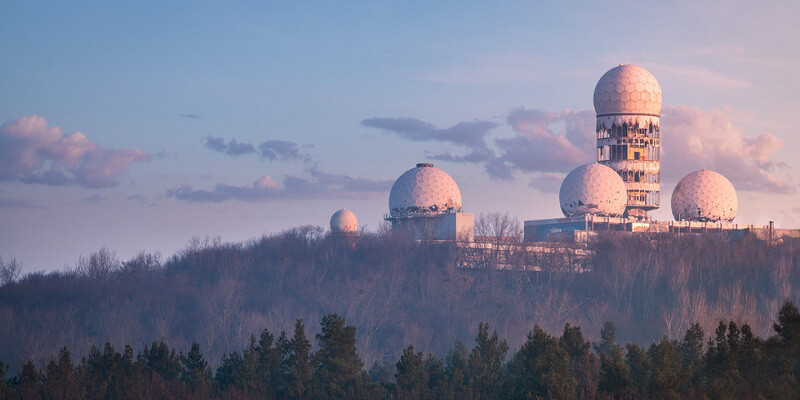 The American spystation in Grunewald.