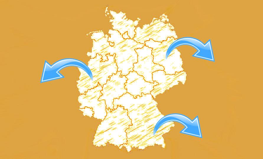 voyager à l'étranger depuis l'Allemagne