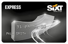 The Express Sixt rent a car Card, great deals for frequent customers