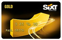 The Gold Sixt Card for unbeatable offers on car rental services
