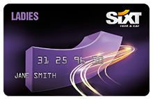 The Ladies Sixt Card - recieve great deals on Sixt rental cars