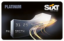 The Platinum Sixt Card, exclusive offers for frequent car rental customers