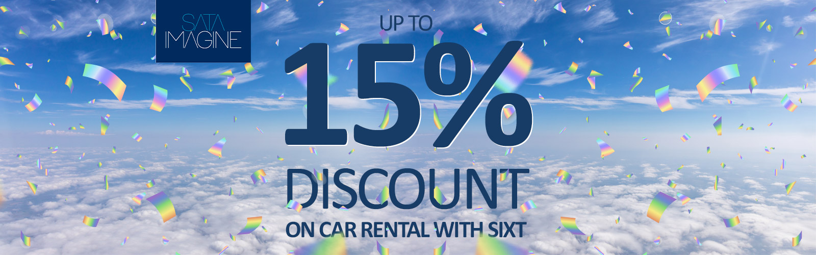 Up to 15% discount on car rental with SIXT