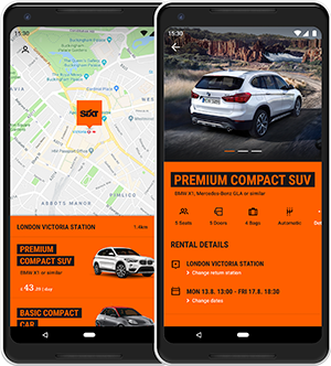 Android Car Rental App Sixt Rent A Car