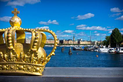 Stockholm crown and water