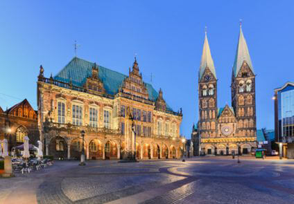 Bremen - City Hall and Cathedral