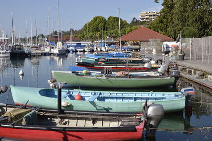 Boats in Thonon-les-Bains