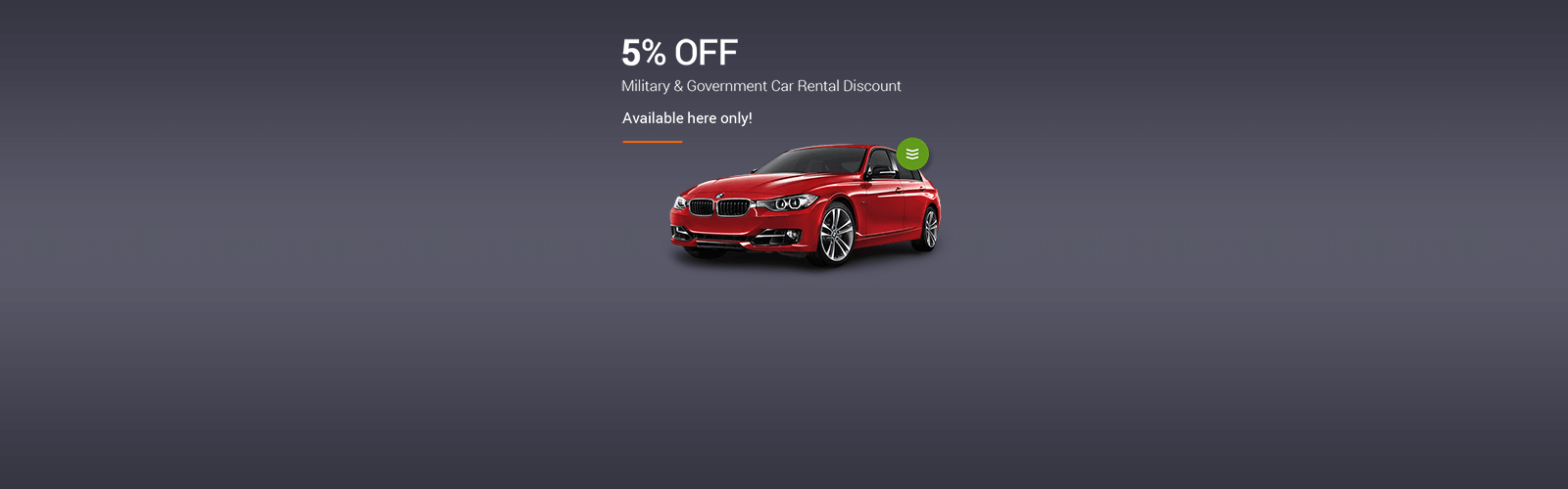 Military & Government Car Rental Coupons
