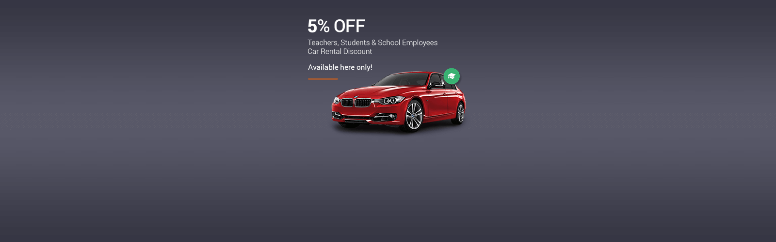 Teacher & Students Car Rental Coupons