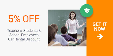 Sixt offers special car rental discounts for students and teachers at all of our US rental locations. Traveling some where exotic for spring break, or needing a car to get back home. You will be able to save no matter the reason you need a rental vehicle.